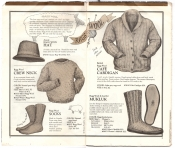 Banana Republic Catalog No.10 Holiday 1982 Ragg Wool Hat, Ragg Wool Crew Neck, Rag Wool Socks, Cafe Cadigan, Mukluk