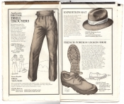 Banana Republic Catalog No.10 Holiday 1982 Drill Trousers, Expedition Hat, French Foreign Legion Shoe