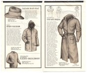Banana Republic Catalog No.10 Holiday 1982 Safari Rain Hat, Flight Deck  Jersey, Seattle Rain Slicker, Safari Dress