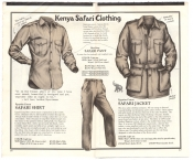 Banana Republic Catalog No.10 Holiday 1982 Safari Shirt, Safari Pants, Safari Jacket