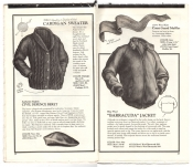 Banana Republic Catalog No.10 Holiday 1982 Cardigan Seater, Civil Defence Beret, Coast Guard Muffler, Barracuda Jacket