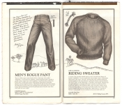 Banana Republic Catalog No.10 Holiday 1982 Rogue Pants, Riding Sweater