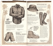 Banana Republic Catalog No.10 Holiday 1982 Bombay Shirt, Khaki Shorts, Desert Hat, Safari Socks, French Foreign Legion Shoe