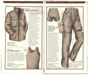 Banana Republic Catalog No.10 Holiday 1982 Field Jacket, Dutch army Undershirt, Modular Safari Pant