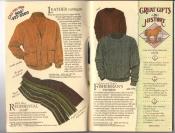 Banana Republic Catalog #34 Holiday 1987 Leather Cardigan, Regimental Scarf, Fisherman\'s Sweater