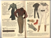Banana Republic Catalog #34 Holiday 1987 Checkered Shirt, Gabardine Skirt, Woven Leather Belt, All-Night Flightsuit, Bergamo Gloves