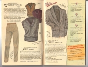 Banana Republic Catalog #34 Holiday 1987 Winter Tennis Vest, Dress Khakis, Tweed Sportcoat