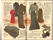 Banana Republic Catalog #34 Holiday 1987 Turtleneck Dress, Jocquard Scarf, Essential Skirt, Ribbed Tights