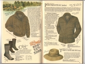 Banana Republic Catalog #34 Holiday 1987 Rainbuffer Jacket, Crew Socks, Portmanteau Jacket, Town and Bush Hat
