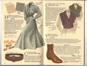 Banana Republic Catalog #34 Holiday 1987 Houndstooth Dress, Contour Belt, Cabled Vest, Victorian Boots