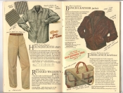 Banana Republic Catalog #34 Holiday 1987 Houndstooth Shirt, Richard Walker's Pants, Bench Leather Jacket, Freelance Briefcase