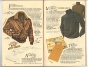 Banana Republic Catalog #34 Holiday 1987 Flight Jacket, Aviator\'s Scarf, Merino Wool Turtleneck, Travel Diary