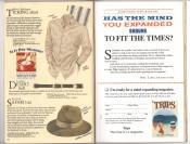 Banana Republic Catalog #34 Holiday 1987 Ticking Shirt, Safari Hat
