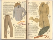 Banana Republic Catalog #34 Holiday 1987 South of Market Shirt, Covert Twill Trousers, Traveler\'s Raincoat, Travel Umbrella