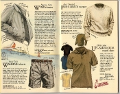 Banana Republic Catalog #22: Spring 1985 Windcheater, Walking Shorts, Irish Linen Sweater, Un-Alligator Shirt