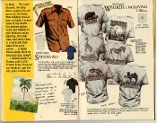 Banana Republic Catalog #22: Spring 1985 Sahara Shirt, Old English Wildlife Engraving T-Shirts