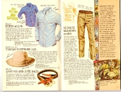 Banana Republic #27 Spring 1986 Sierra Denim Shirt, Richard Walker's Pants, Tuscan Vinter's Hat, Leather and Jute Belt