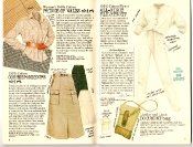 Banana Republic #27 Spring 1986 Prince of Wales Shirt, Correspondent\'s Skirt, All-Night Flightsuit, Document Bag
