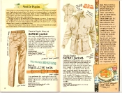 Banana Republic #27 Spring 1986 Safari Pants, Safari Jacket, Brass Link Belt