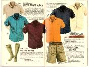 Banana Republic #27 Spring 1986 Costa Brava Shirt, Safari Socks, Braided Belt, Bersaglieri Shorts