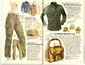 Banana Republic #27 Spring 1986 BR Safari Cap, Jungle Fatigues, Expedition Shirt, Correspondent's Bag