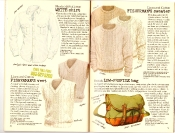 Banana Republic #27 Spring 1986 White Shirt, Fisherman's Vest, Fisherman's Sweater, Low-Profile Bag