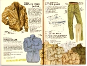 Banana Republic #27 Spring 1986 Army Air Corps Jacket, Bombay Shirt, Fatigue Pants, Aviator's Scarf