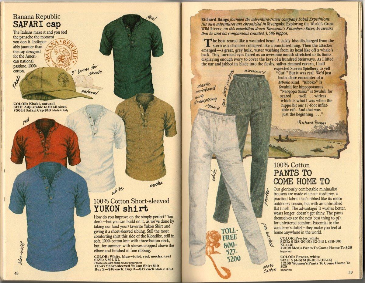 69623417147c0 Banana Republic Summer 1986 No. 28 Safari Cap