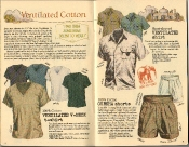 Banana Republic Summer 1986 No. 28 Ventilated Shirt, Ventilated V-Neck Shirt, Gurkha Shorts