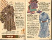 Banana Republic Summer 1986 No. 28 Samburu Shirt, Samburu Skirt, Twice-Buckled Belt, Kikoi Stripe Scarf, Workshirt Dress