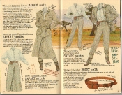Banana Republic Summer 1986 No. 28 Women's Safari Jacket, Safari Pants, Safari Skirt, Safari Suit, Women's Money Belt