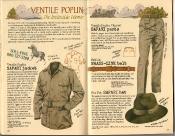 Banana Republic Summer 1986 No. 28 Ventile Poplin, Safari Jacket, Safari Pants, Safari Hat, British Brass-Link Belt