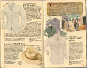 Banana Republic Summer 1986 No. 28 White Shirt, Panama Hat, French Cafe Shirt, Herbert Gold, Testimonial, Gustav Falubert Travelogue