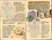 Banana Republic Summer 1986 No. 28 White Shirt, Panama Hat, French Cafe Shirt, Herbert Gold, Testimonial, Gustav Falubert Travelogue