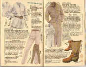 Banana Republic Summer 1986 No. 28 Women's Australian Jeans, Danish Miller's Shirt, Safari Dress, Women's Traveling Boots, Dorothy Callins and Crya McFadden Testimonial