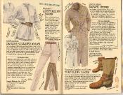 Banana Republic Summer 1986 No. 28 Women\'s Australian Jeans, Danish Miller\'s Shirt, Safari Dress, Women\'s Traveling Boots, Dorothy Callins and Crya McFadden Testimonial