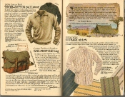 Banana Republic Summer 1986 3-Button Pullover, Low Profile Bag, Melvin Belli Testimonial, Richard Burton Travelogue, Outback Shirt
