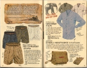 Banana Republic Summer 1986 No. 28 FC Selous Travelogue, Men's Mediterranean Shorts, Caribbean Shirt, Israeli Paratrooper Briefcase