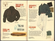 Banana Republic Catalog 37 Fall 1988 Snap Collar Bomber Jacket, Canvas and Leather Belt, Architect's Plaid Shirt, Slub-Weave Trousers