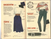 Banana Republic Catalog 37 Fall 1988 Shoulder Button Shirt, Essential Skirt, Traveler\'s Trousers, Saddle Leather Belt