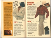 Banana Republic Catalog 37 Fall 1988 Poet\'s Cardigan, Portuguese Flannel Shirt, Rogue Pants