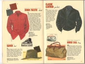 Banana Republic Catalog 37 Fall 1988 Union Pacific Shirt, Slouch Hat, Classic Leather Jacket, House Call Bag