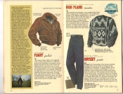 Banana Republic Catalog 37 Fall 1988 Flight Jacket, High Plains Sweater, Odyssey Pants