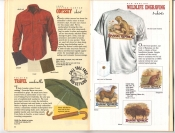 Banana Republic Catalog 37 Fall 1988 Odyssey Shirt, Travel Umbrella, Old English Wildlife Engraving Shirts
