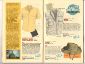 Banana Republic Catalog 37 Fall 1988 Ventilated Shirt, Bush Vest, French Army Bush Hat