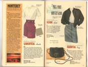 Banana Republic Catalog 37 Fall 1988 Sabbatical Shorts, Denim Skirt, Essential Bag