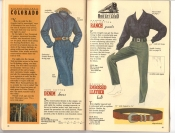 Banana Republic Catalog 37 Fall 1988 Denim Dress, Ranch Pants, Embossed Leather Belt