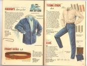 Banana Republic Catalog 37 Fall 1988 Railman\'s Shirt Jacket, Stirrup Leather Belt, Ticking Shirt, Mens Jeans