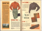 Banana Republic Catalog 37 Fall 1988 Brushed Twill Skirt, Plaid Flannel Shirt, No-Croc Shoes