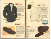 Banana Republic Catalog 37 Fall 1988 Lambsuede Field Jacket, Dry Dock Moccasins, Mesa Sweater, Tweed Socks
